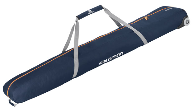 2 PAIRS 195 WHEELY SKI BAG dark blue/orange